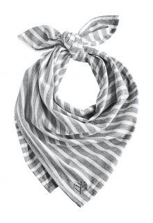 Coolibar---UV-werende-bandana-voor-volwassenen---Everyday-Beach---Grijs/Wit