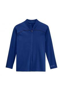 Coolibar---UV-Zwemjack-voor-mannen---Menorca---Diep-Blauw