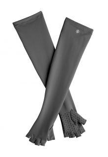 Coolibar---UV-vingerloze-handschoenen-met-lange-mouw-voor-volwassenen---Perpetua---Houtskool