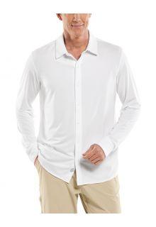 Coolibar---UV-werend-Overhemd-voor-heren---Vita-Button-Down---Wit