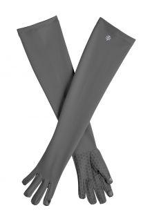 Coolibar---UV-werende-handschoenen-met-lange-mouw-voor-volwassenen---Culebra---Houtskool