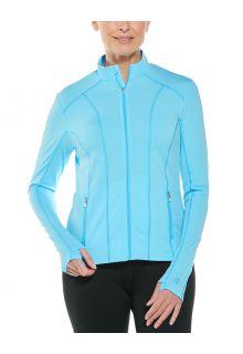 Coolibar---UV-Zwemjack-voor-dames---Malawi---Ijsblauw