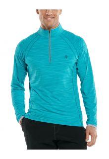 Coolibar---UV-Zwemshirt-met-halve-rits-voor-heren---Ultimate---Aqua
