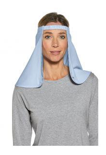 Coolibar---UV-nekflap-ten-behoeve-van-hoeden-voor-volwassenen---Trailhead---Lichtblauw