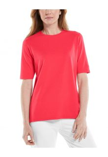 Coolibar---UV-Shirt-voor-dames---Morada-Everyday---Papaverrood