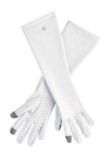 Coolibar---UV-werende-handschoenen-met-mouw-voor-volwassenen---Bona---Wit