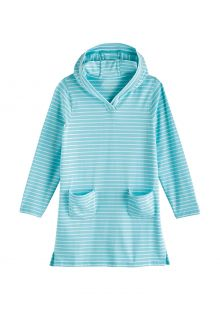 Coolibar---UV-Strandtuniek-voor-meisjes---Catalina---Ijsblauw/Wit