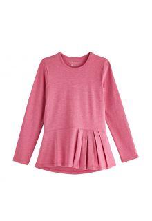 Coolibar---UV-Shirt-voor-meisjes---Longsleeve---Aphelion-Tee---Dahlia-Roze