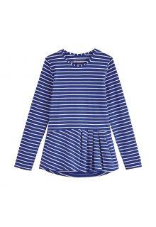 Coolibar---UV-Shirt-voor-meisjes---Longsleeve---Aphelion-Tee---Saffierblauw/Wit