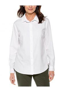 Coolibar---UV-werende-Blouse-voor-dames---Hepburn---Wit