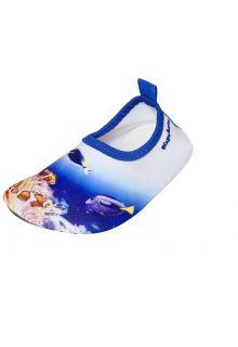 Playshoes---Uv-waterschoenen-voor-kinderen---Onderwaterwereld---Zeeprint-blauw