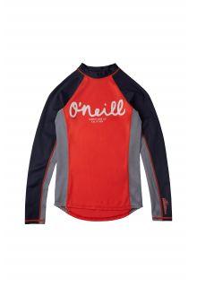 O'Neill---UV-Zwemshirt-voor-meisjes---Longsleeve---Skins---Koraalrood