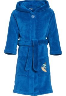 Playshoes---Fleece-badjas-met-capuchon---Surf-Blauw