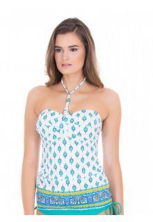 Cabana-Life---UV-3-ways-Tankini-Top-voor-dames---Groen/Wit-