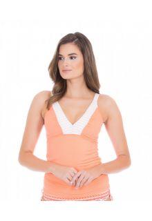 Cabana-Life---UV-Tankini-Top-voor-dames---Oranje/Wit