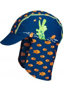 Playshoes---UV-zonnepet-voor-kinderen---Krokodil---Blauw