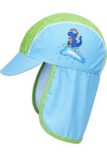 Playshoes---UV-zonnepet-voor-jongens---Dino---Lichtblauw/Groen