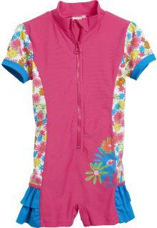 Playshoes---UV-eendelig-zwempakje---Bloemen-roze-ruches