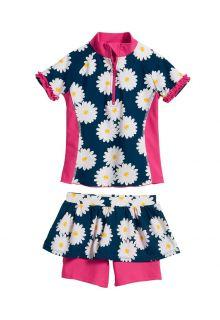 Playshoes---UV-zwemset-2-delig-voor-meisjes---Margriet---Blauw-/-roze