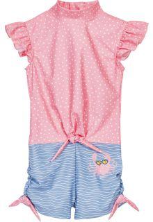 Playshoes---UV-badpak-voor-meisjes---Krab---Roze/Lichtblauw