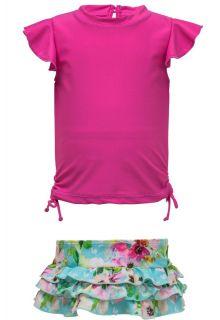 Snapper-Rock---UV-zwemset-met-ruche---Watercolor-Floral---Roze/Blauw