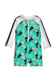 Snapper-Rock---UV-zwempak-voor-baby-jongens---Longsleeve---Toucan-Talk---Mintblauw
