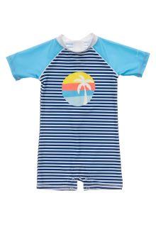 Snapper-Rock---UV-zwempak-voor-baby-jongens---Korte-mouw---Blauw/Wit