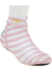Duukies---Meisjes-UV-strandsokken---Baby-Pink---Roze-gestreept