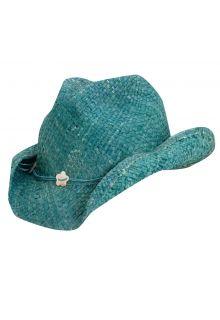 Dorfman-Pacific---Cowgirl-hoed-met-schelpen-voor-kinderen---Turkoois