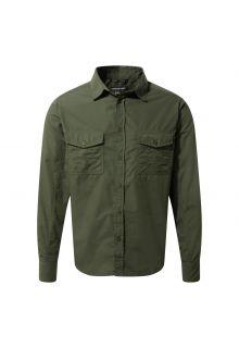 Craghoppers---UV-Overhemd-voor-heren---Longsleeve---Kiwi---Donkergroen