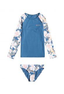Roxy---UV-Zwemset-voor-jonge-meisjes---Longsleeve---Swim-Lovers---Blue-Moonlight