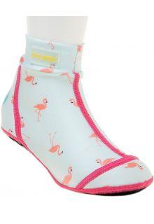 Duukies---Meisjes-UV-strandsokken---Flamingo-Mint---Mint