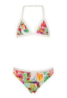 Snapper-Rock---UV-meisjes-zwemset-bikini-en-shirtje---Tropische-vogels