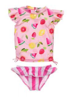 Snapper-Rock---UV-zwemset-voor-baby-meisjes---Korte-mouwen---Fruit-Fiesta---Roze