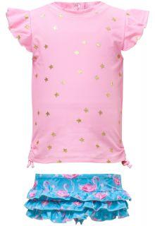 Snapper-Rock---UV-Zwemset-met-ruche---Flamingo-Star---Roze/Blauw