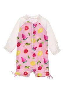 Snapper-Rock---UV-zwempak-voor-baby-meisjes---Longsleeve---Fruit-Fiesta---Roze
