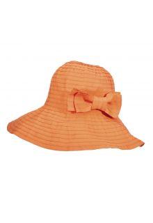 Scala---Oprolbare-hoed-met-strik-voor-dames---Oranje