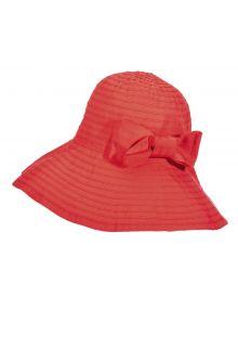 Scala---Oprolbare-hoed-met-strik-voor-dames---Rood