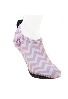 Duukies---Dames-UV-strandsokken---Ladies-Zigzag-Pink---Roze-streep
