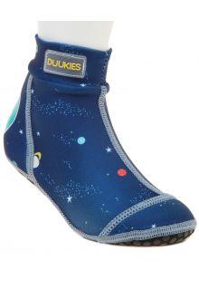Duukies---Jongens-UV-strandsokken---Planets-Blue---Donkerblauw