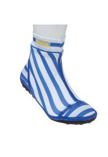 Duukies---Jongens-UV-strandsokken---Stripe-Blue-White---Blauw-streep