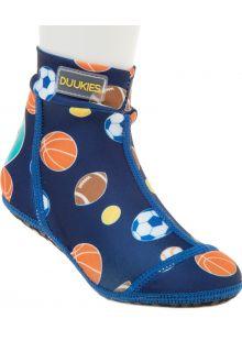 Duukies---Jongens-UV-strandsokken---Sportsball-Blue---Blauw