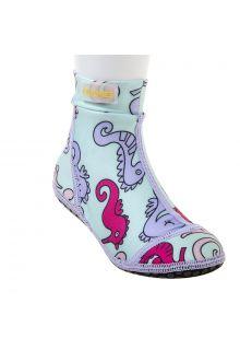 Duukies---Meisjes-UV-strandsokken---Seahorse---Lichtblauw