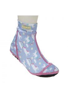 Duukies---Meisjes-UV-strandsokken---Unicorn-Lilac-Pink---Paars