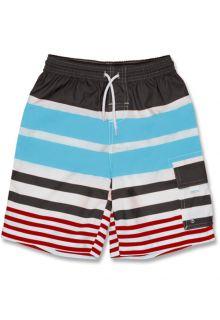 Snapper-Rock---Boardshort---Grijs/-rood/blauw-gestreept