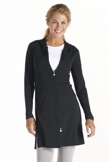 Coolibar---Lange-UV-vest-voor-dames---Zwart