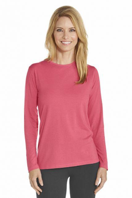 Coolibar---UV-shirt-lange-mouwen---Koraal