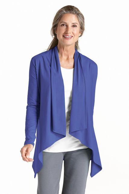 Coolibar---UV-vest-dames---Blauw