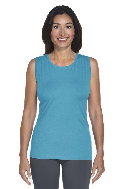 Coolibar---UV-singlet-dames---azuurblauw