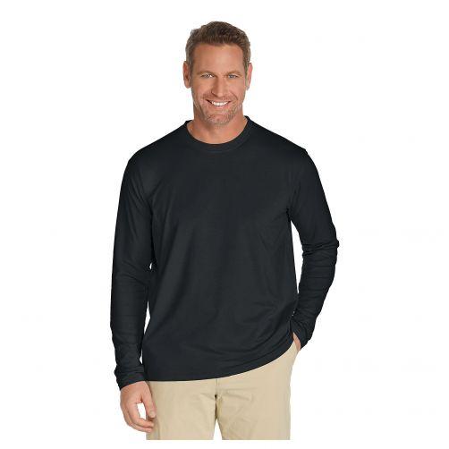 Coolibar---UV-Shirt-voor-heren---Longsleeve---Morada---Zwart